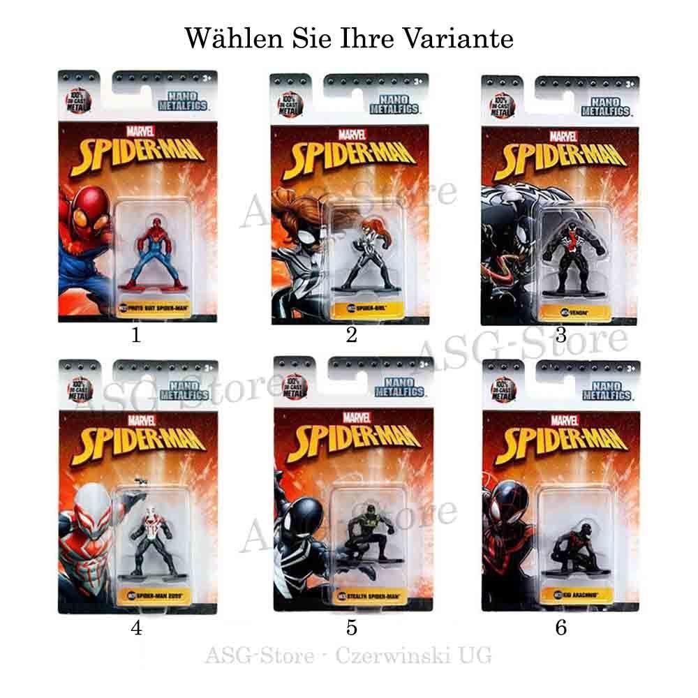 Marvel Spiderman Nano Metal Figuren