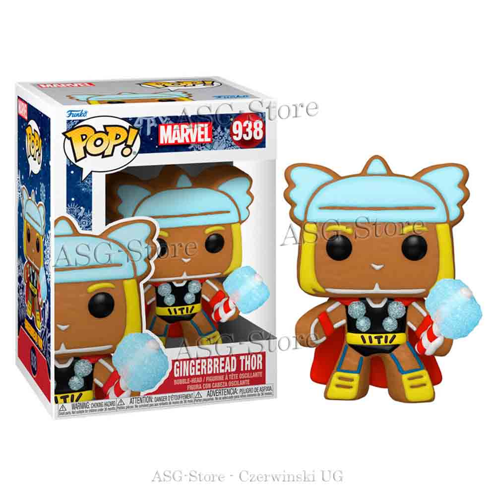 Funko Pop Marvel Holiday 938 Gingerbread Thor