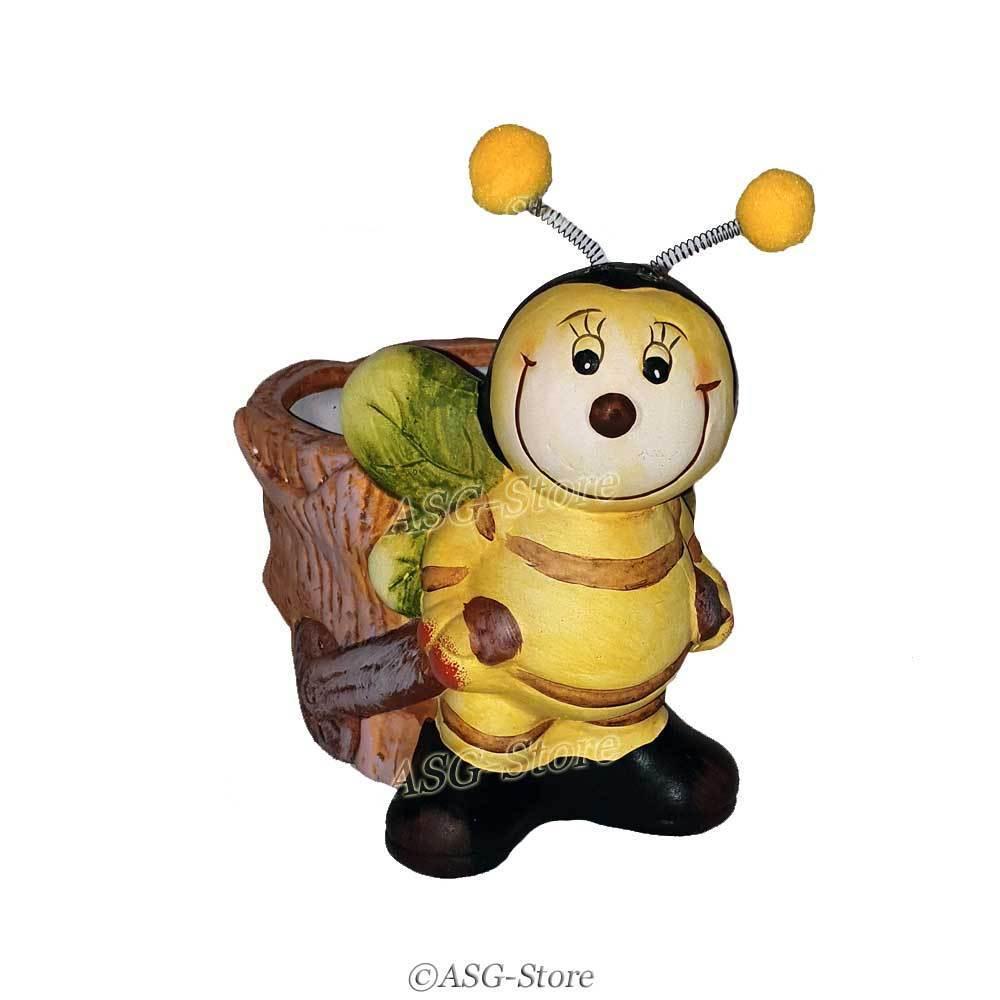 """Blumentopf """"Biene mit Wackelfühlern"""""""