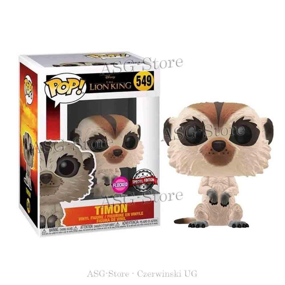 Funko Pop Disney 549 The Lion King Timon Flocked Special Edition