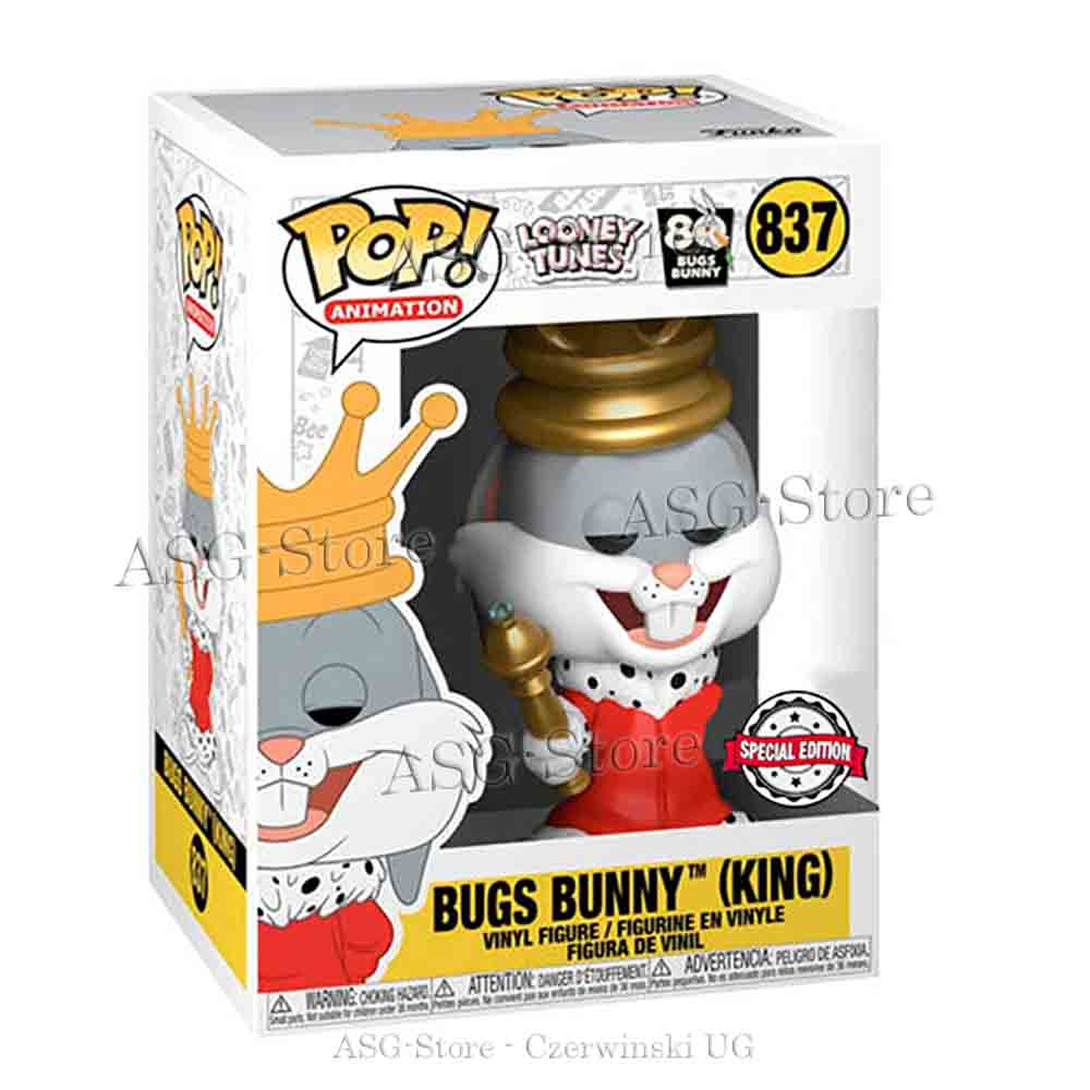 Funko Pop  Animation 837 Looney Tunes 80th Bugs Bunny King Special Edition