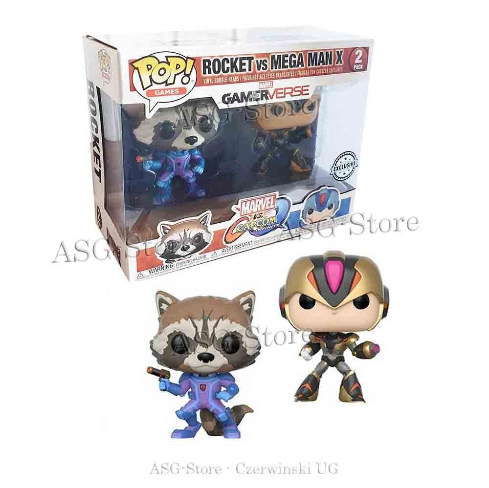 Funko Pop 2 Pack Exclusive Rocket vs Mega Man X