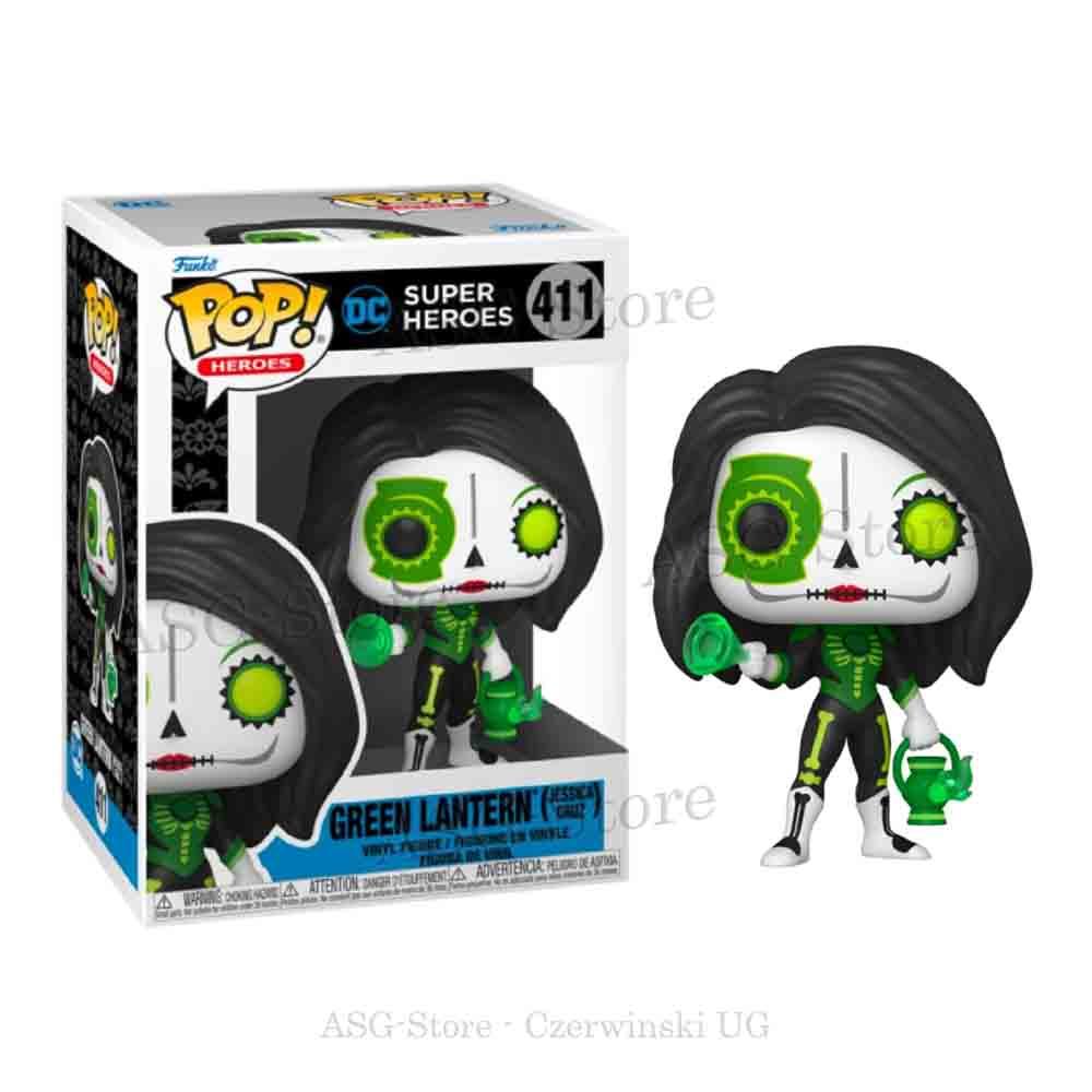 Funko Pop Heroes 411 Dia De Los Green Lantern (Jessica Cruz)