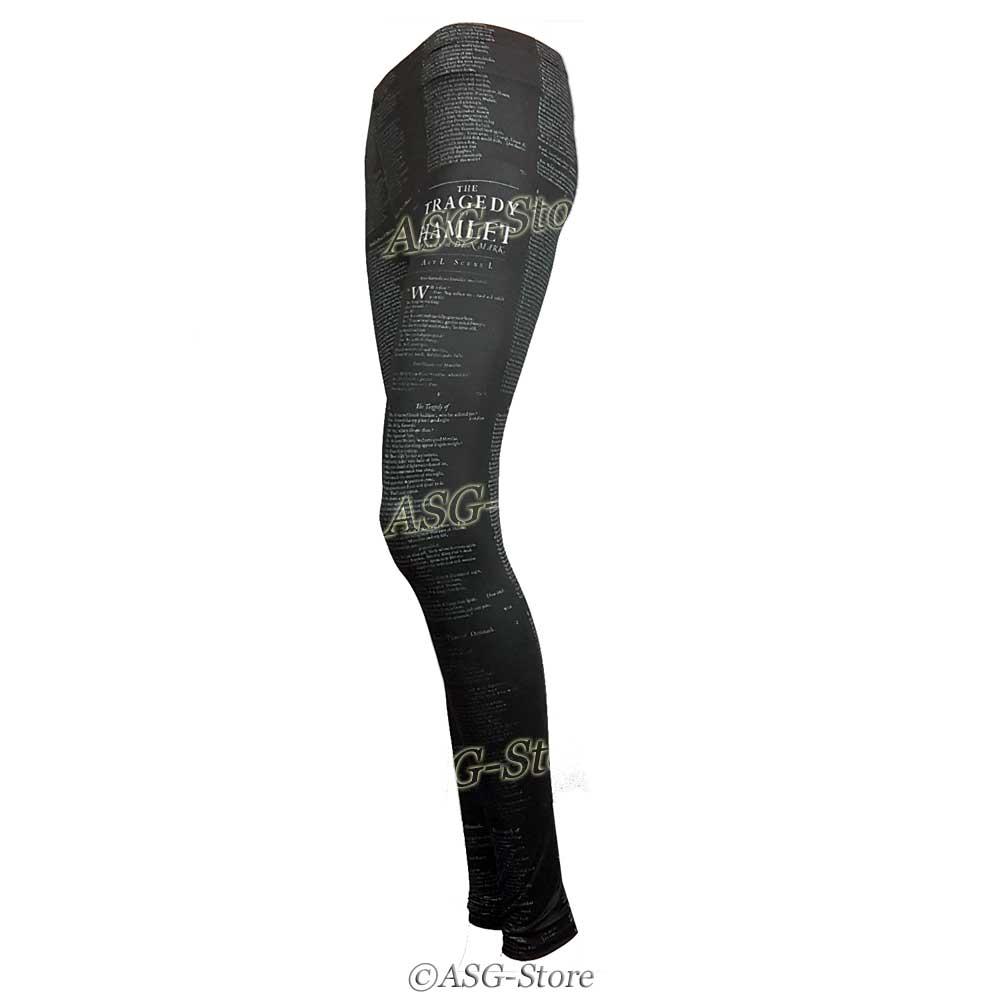 Stylische Leggings für Damen mit Textmotiv