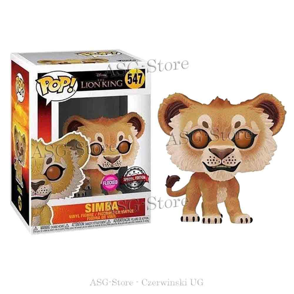 Funko Pop Disney 547 The Lion King Simba Flocked Special Edition