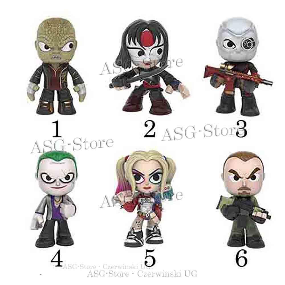 Suicide Squad Figuren von Funko Mystery Minis SET 1
