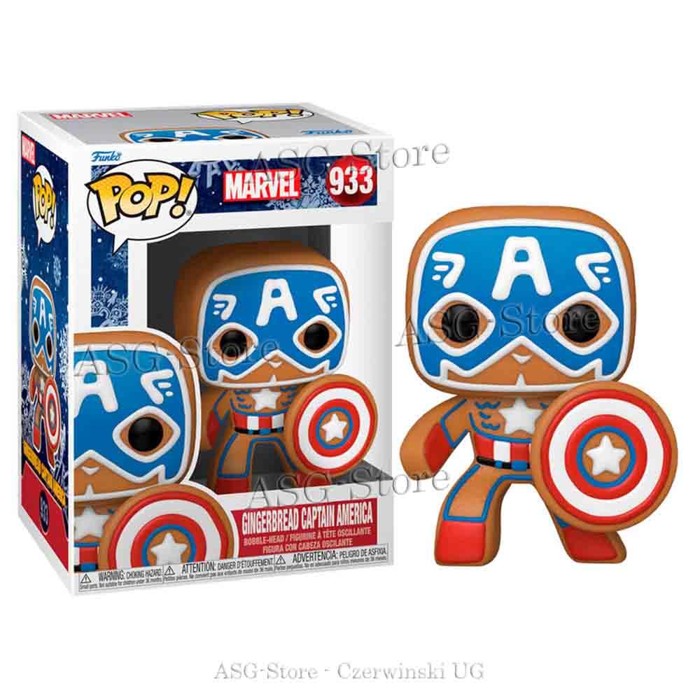 Funko Pop Marvel Holiday 933 Gingerbread Captain America