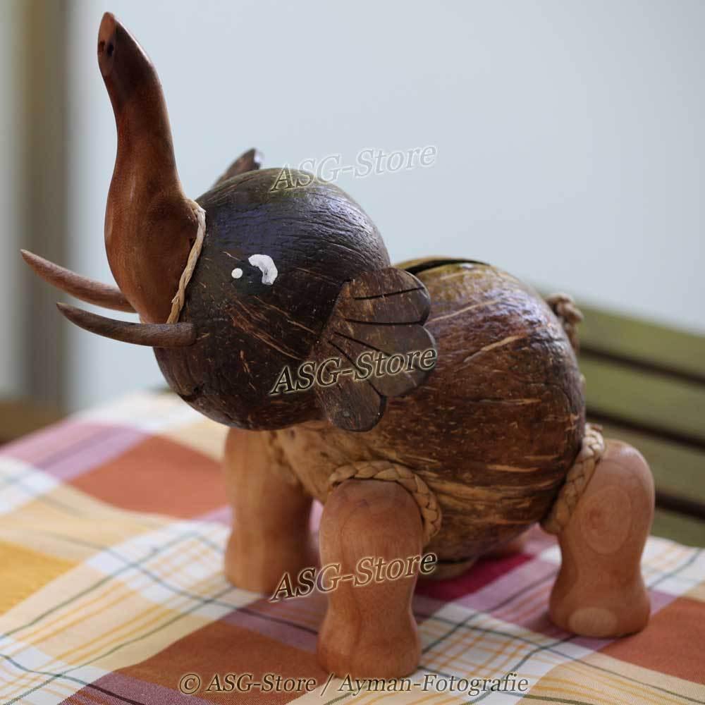 Kokosnuss Spardose Elefant