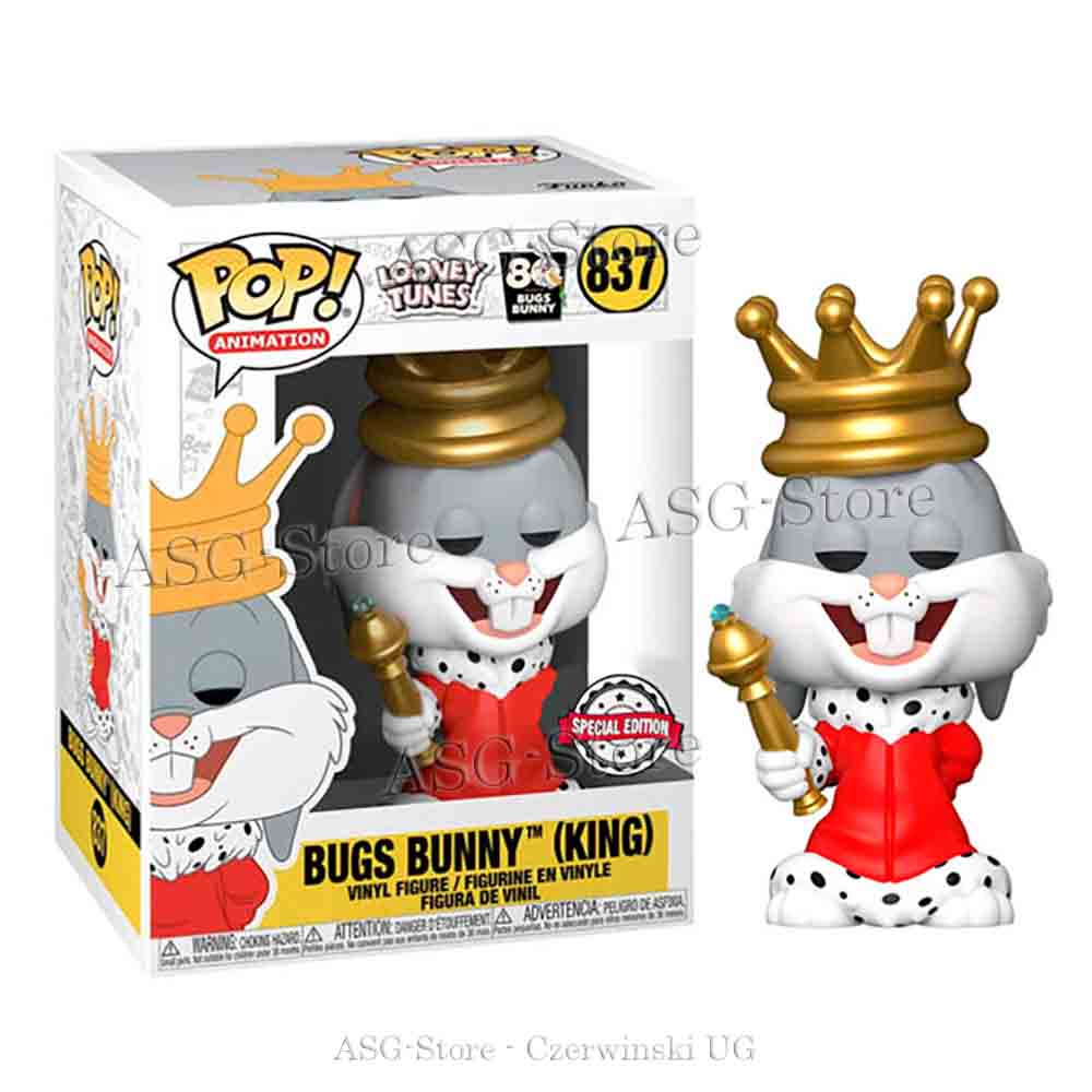 Funko Pop  Animantion 837 Looney Tunes 80th Bugs Bunny King Special Edition