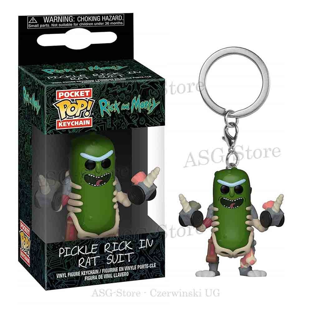 Funko Pocket Pop Keychain Pickle Rick in Rat Suit