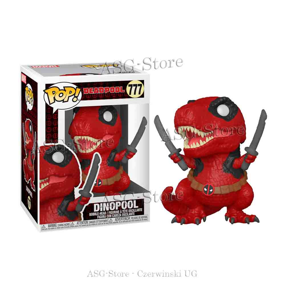 Funko Pop Marvel 777 Deadpool 30th Dinopool