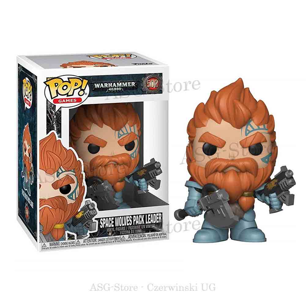 Funko Pop Games 502 Warhammer 40K Space Wolves Pack Leader