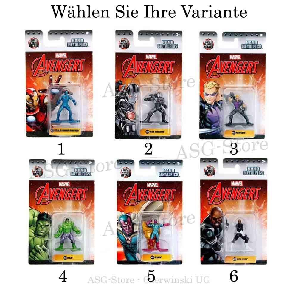 Marvel Avengers Nano Metal Figuren
