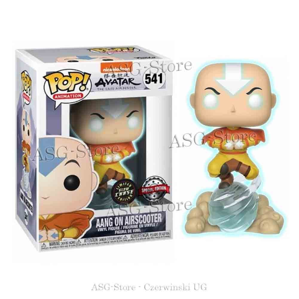 Funko Pop Aang on Airscooter Limited Glow Chase Edition