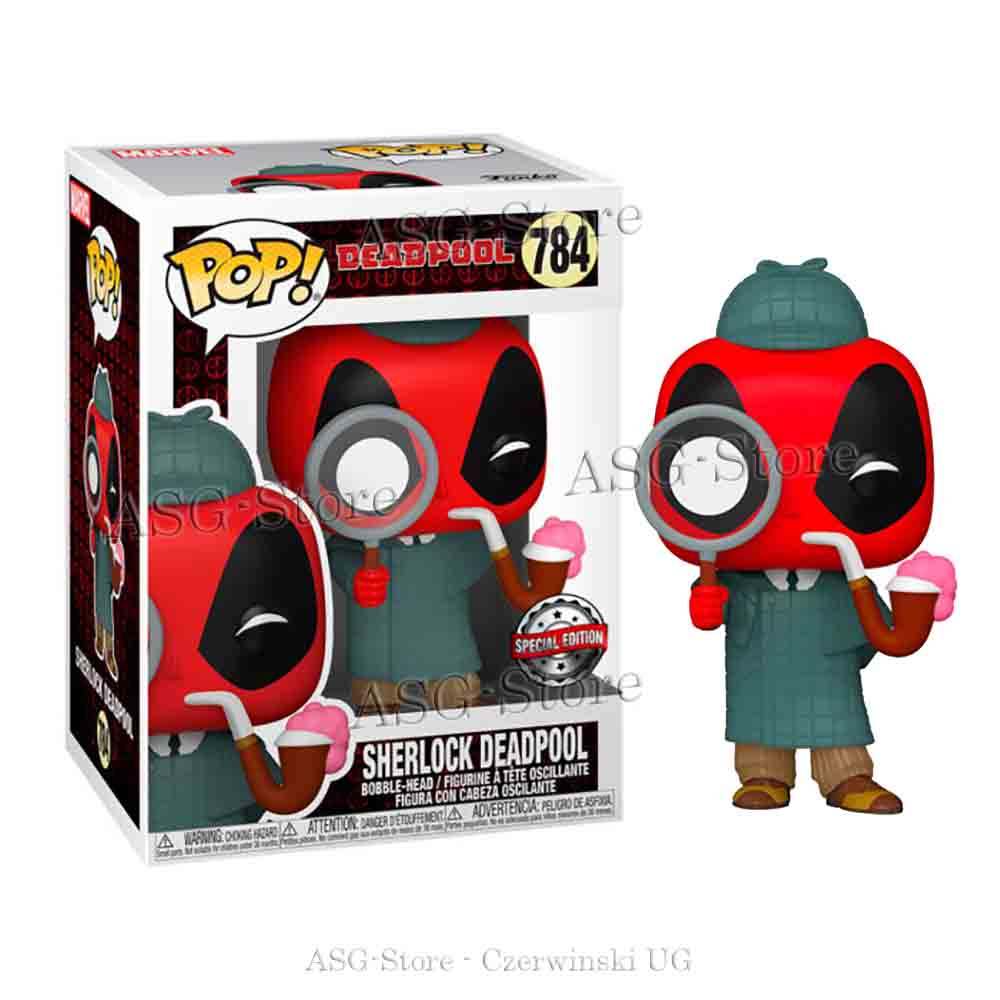 Funko Pop Marvel 784 Deadpool 30th Sherlock Deadpool Special Edition