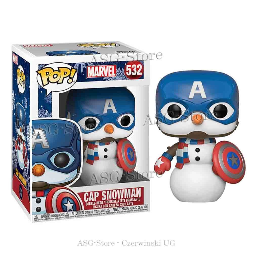 Funko Pop Holiday 532 Marvel Cap Snowman