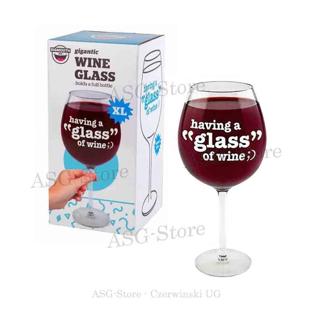 Das 750ml  Weinglas für eine Flasche Wein
