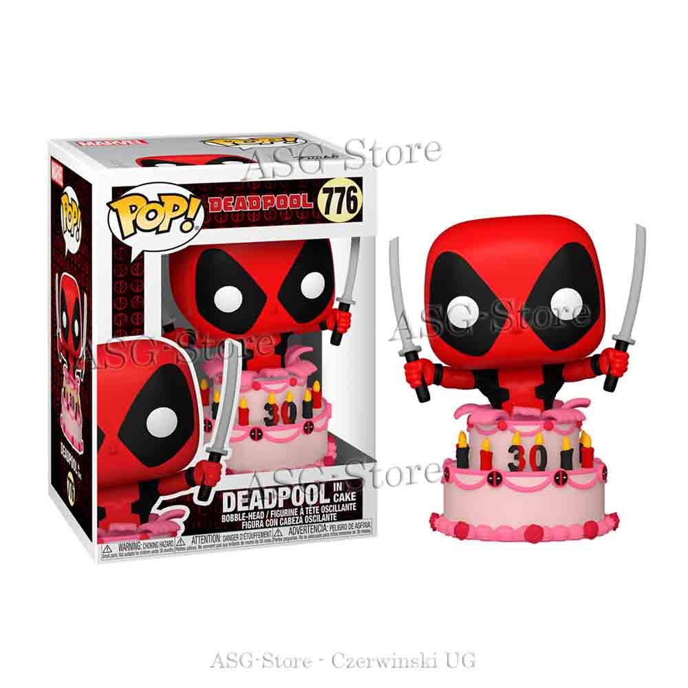 Funko Pop Marvel 776 Deadpool 30th Deadpool in Cake
