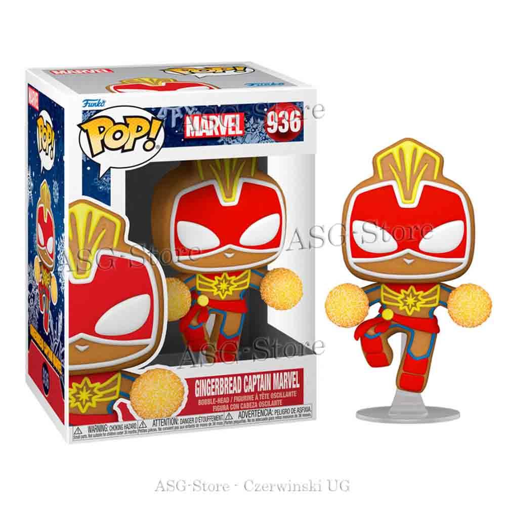 Funko Pop Marvel Holiday 936 Gingerbread Captain Marvel