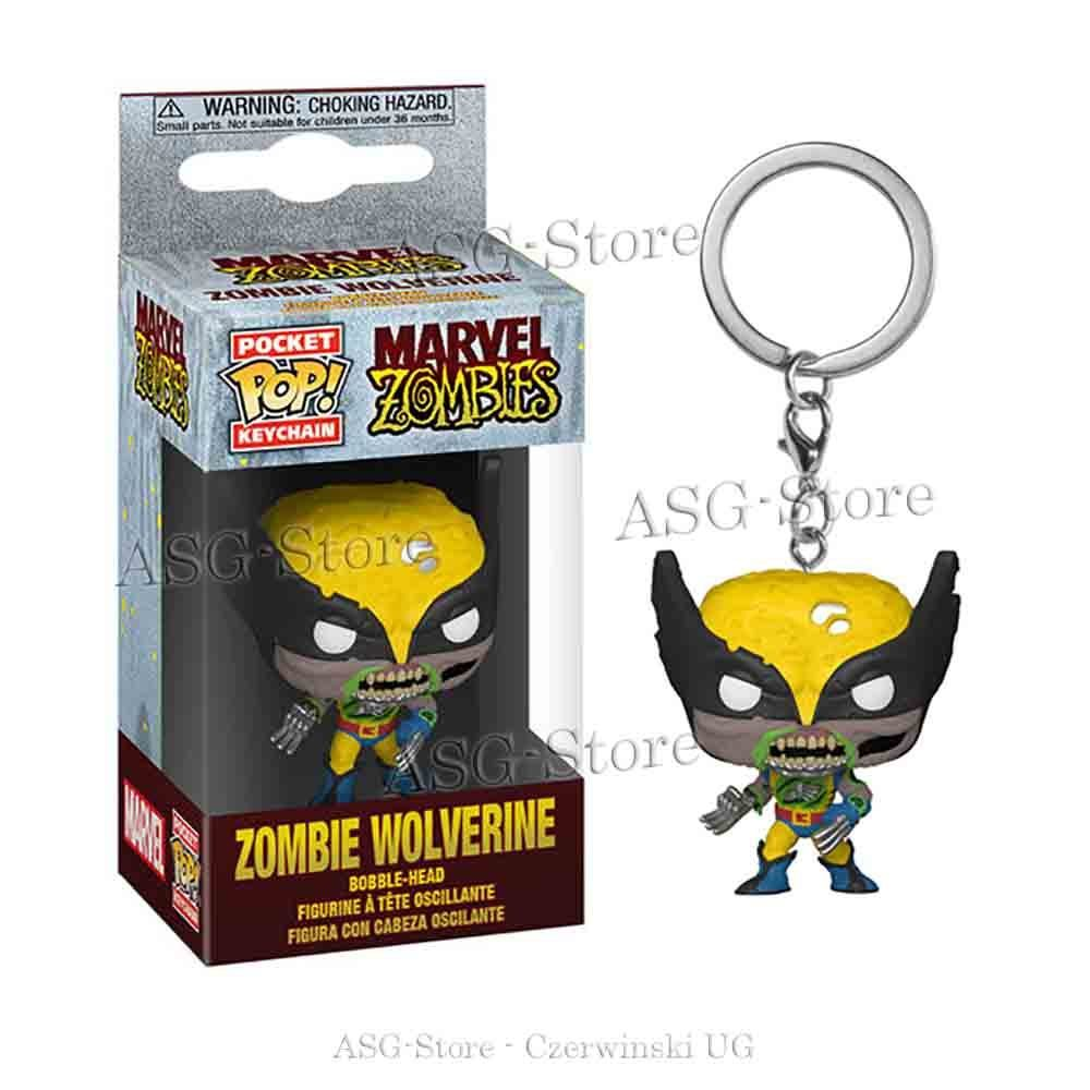 Funko Pocket Pop Keychain Marvel Zombie Wolverine