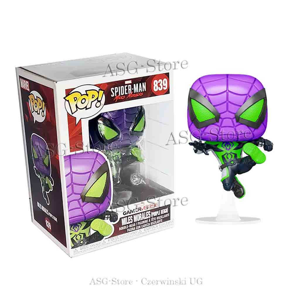 Funko Pop Marvel 839 Spider-Man Miles Morales (Purple Reign)