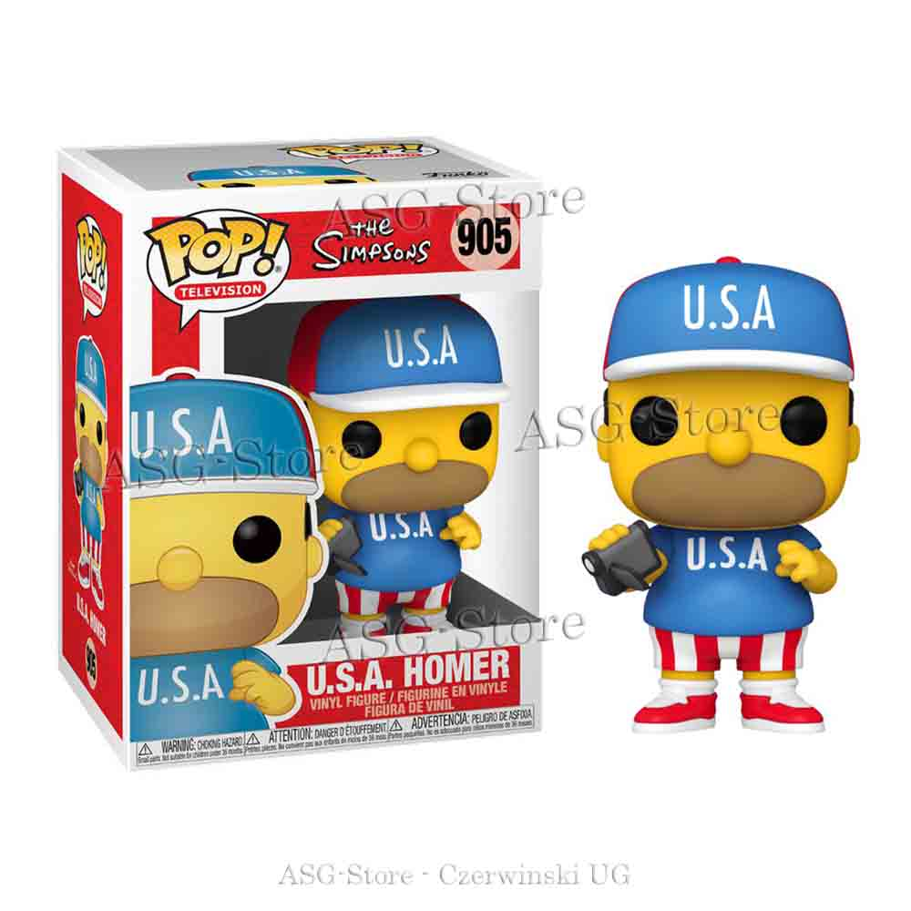 Funko Pop Television 905 The Simpsons U.S.A. Homer