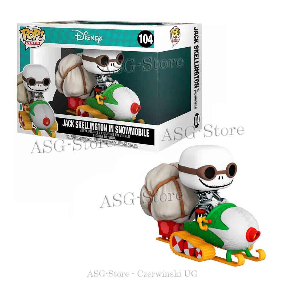 Funko Pop Rides 104 Disney Nightmare Before Christmas Jack Skellington in Snowmobile