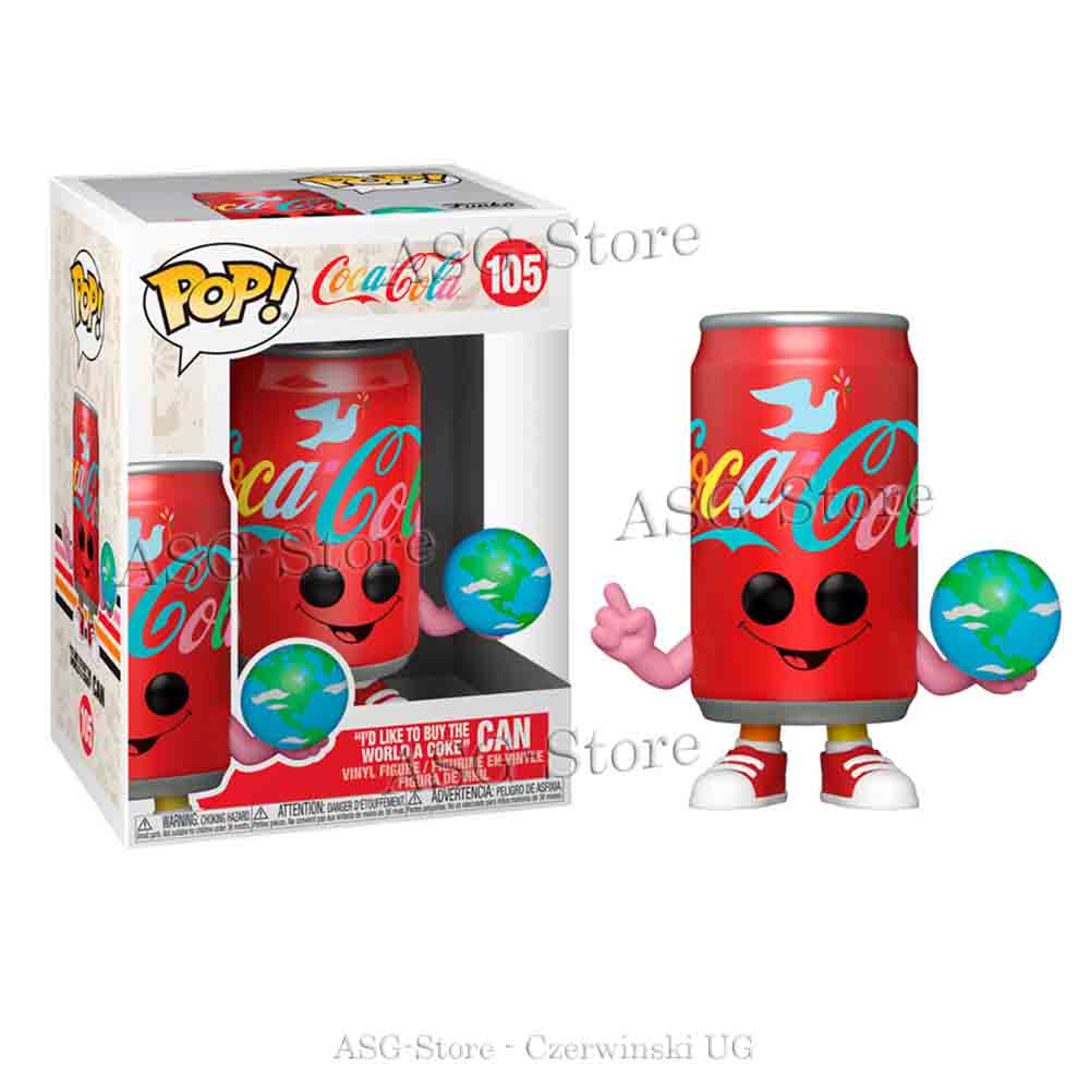 """Funko Pop Ad Icons 105 Coca Cola """"I´d like to buy the world a Coke"""" Can"""